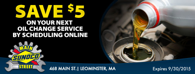 Save 5.00 on your next oil change with online scheduling!
