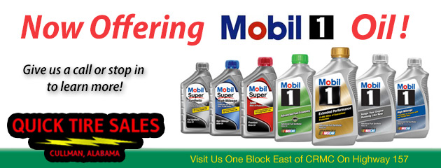 Now Offering Mobil 1 Oil!