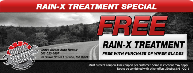 Free Rain-x treatment