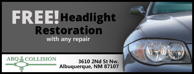 Free Headlight Restoration with any repair!