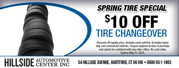 $10 Off Tire Changeover