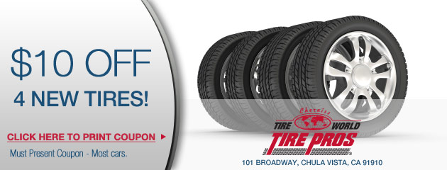 $10 off of 4 tires!