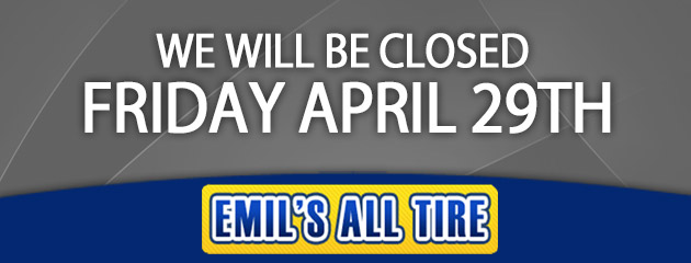 CLOSED Friday April 29th