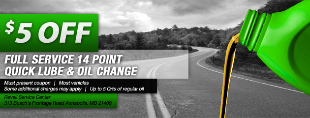 Oil Change Special - $5 OFF