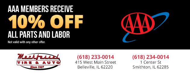 AAA Members Receive 10% off all parts and labor