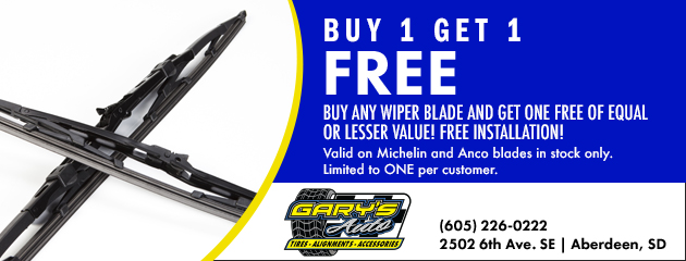Buy 1 Get 1 Free Select Wiper Blades