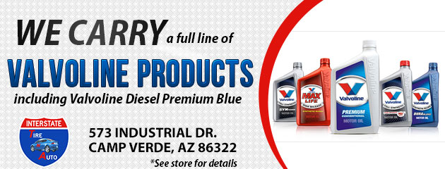 We carry a full line of Valvoline Products