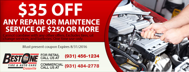 $35 off any repair or maintence service $250 or more