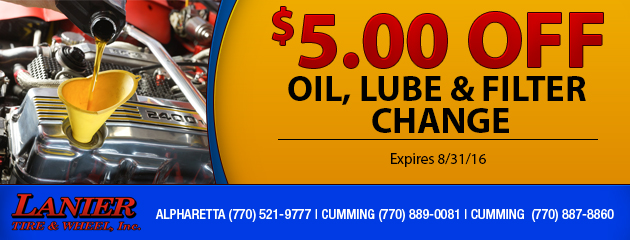 $5 OFF Oil Lube and Filter Change