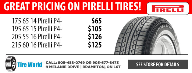 Great Pricing on Pirelli Tires!