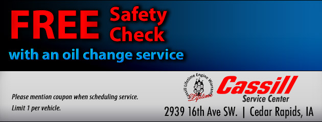 Free Safety Check with an Oil Change service