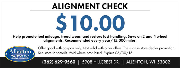Alignment Check $10