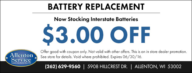 $3 OFF Battery Replacement