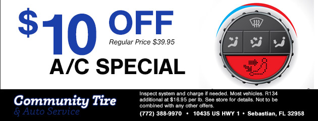 $10 Off A/C Special