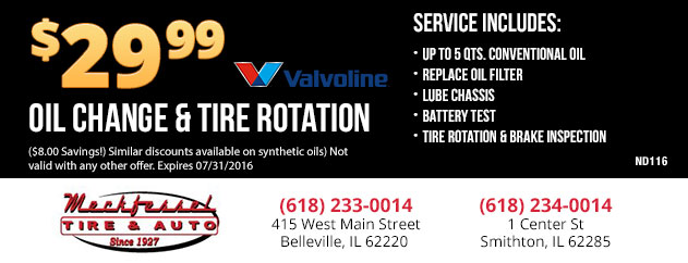 Oil Change & Tire Rotation - $29.99