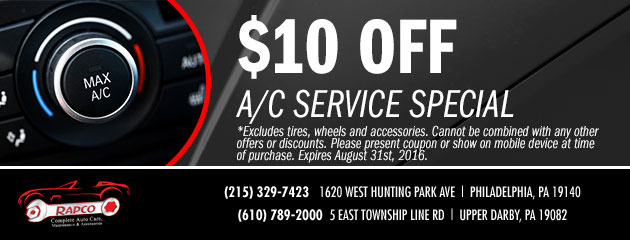 $10 OFF AC Service Special
