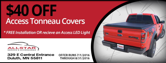 $40 OFF Access Tonneau Covers