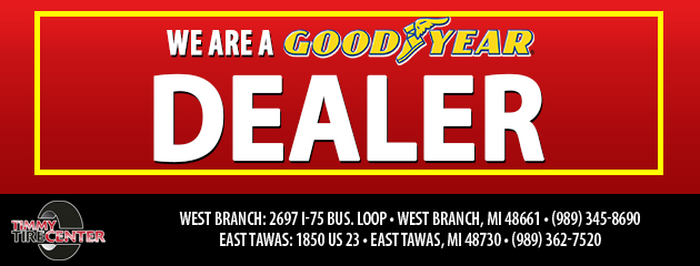 We are a Goodyear Dealer!