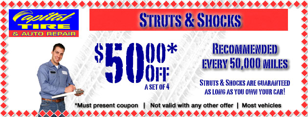 $50 Off Struts and Shocks