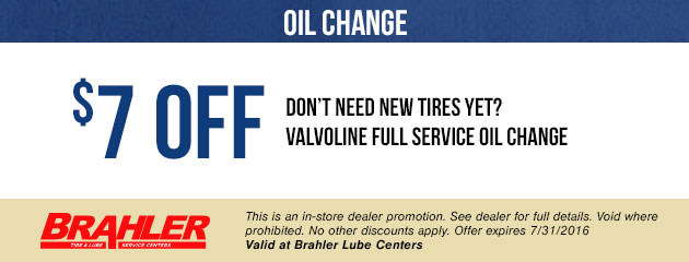 $7 Off Full Service Oil Change