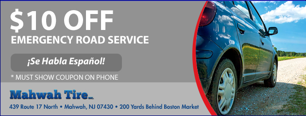 $10 OFF Emergency Road Service
