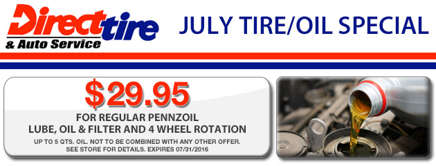 July Tire and Oil Special!