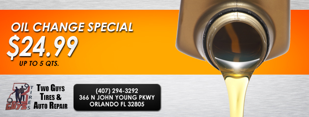 Oil Change Special $24.99