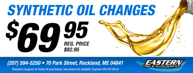 Synthetic Oil Changes - $69.95