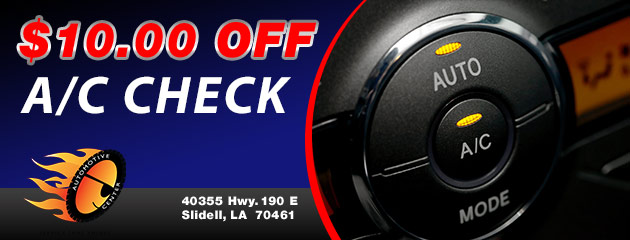 $10.00 off AC Check