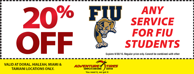 20% Off Any Service For FIU Students