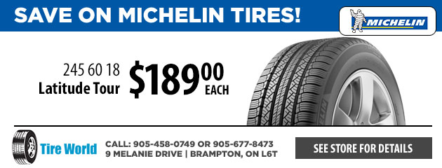 Save on Michelin Tires!