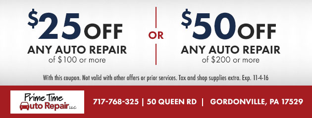 $25 or $50 off any auto repair service