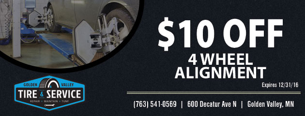$10.00 Off! 4 Wheel Alignment