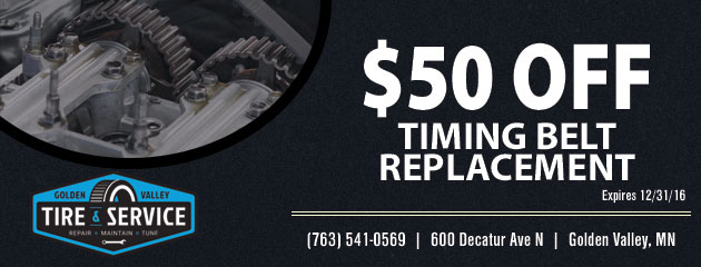 $50.00 Off Timing Belt Replacement