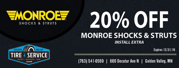 20% Off Monroe Shoks and Struts