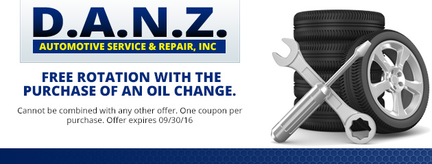 Free Tire Rotation with the purchase of an oil change