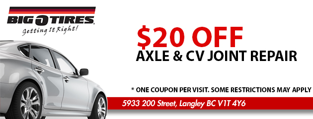 $20 OFF Axle & CV joint Repair