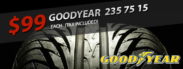 Goodyear 235 75 15 only $99!