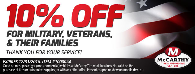 10% Off Military Discount