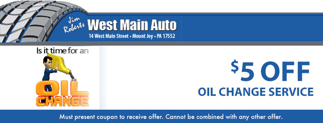 Oil Change Service - $5 off