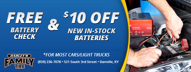 Free Battery Check & $10 OFF Battery puchase