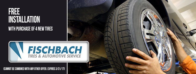 Free Installation with purchase of 4 new tires