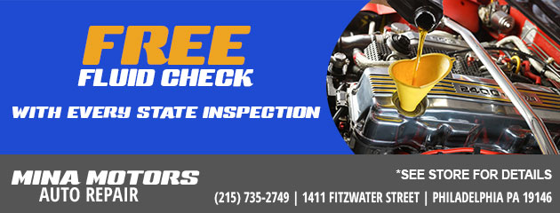 Free Fluid Check With Every State Inspection