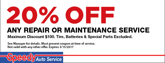 20% Off Maintenance Service Special
