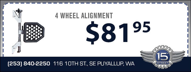 $81.95 4 Wheel Alignment