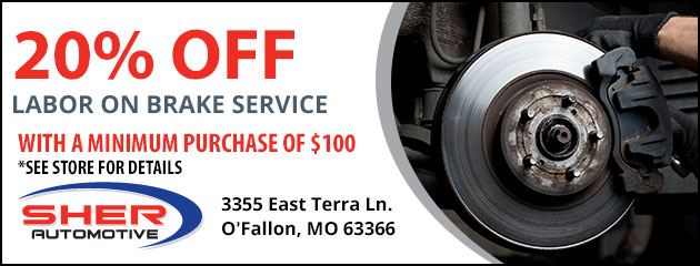 20% OFF Labor on Brake Service