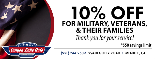 10% OFF for Military