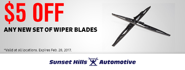 $5 OFF Any New Set of Wiper Blades
