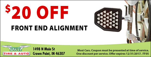 $20 Off Front End Alignment