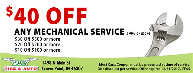 $40 off Any Mechanical Service